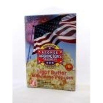 George Washington's Light Butter Microwave Popcorn 6 pack