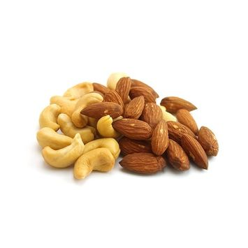 UNSalted Almond and Cashew Value Pack Bundle (Roasted, UNSalted, Premium,) 1 Pound each Bag