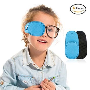 Amblyopia Eye Patches, Sexybeauty Kids Eye Path Heterotropia Eye Patches For Kids' Glasses Strabismus Lazy Eye Patch for Children, Front in Turquoise and Back in Black