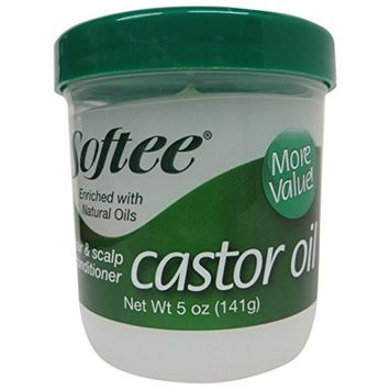 Softee Castor Oil Hair & Scalp Conditioner, 5 Ounce