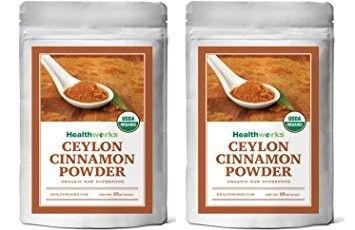 Healthworks Ceylon Cinnamon Organic Ground Powder, 2lb (2 1lb Packs)