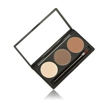 Tonsee Makeup 3 Colors Eyebrow Powder Concealer Palette With Mirror Eyebrow Brush