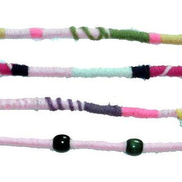 Light Pink Color Scheme, Qty: 1 Dreadlocks Accessory, Dread Wrap, Hair Fall, Hair Wrap, Colorful Accessories for Dreads, Braids, Curls