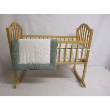 Baby Doll Bedding Zuma Cradle Bedding Set, Seafoam