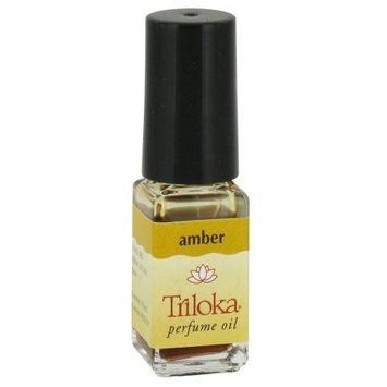 Amber - Triloka Perfume Oil - 1/8 Ounce Bottle