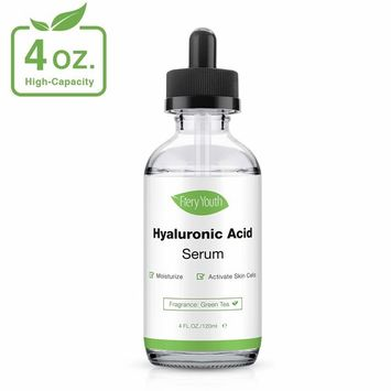 Hyaluronic Acid Serum 4 oz - Ultimate Hydrating Anti Aging Serum for Face Organic Anti Wrinkle Moisturizer for Dry Skin and Fine Lines