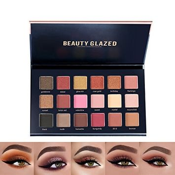 The TEXTURED SHADOWS PALETTE | BEAUTY GLAZED 18 Color Eyeshadow Palette Matte and Glitter Makeup Eye Shadows Palette of Primary Color Type | SS COSMETICS of SeeSaw.