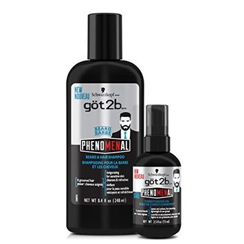 Got2b Phenomenal Beard Grooming Kit Includes A Shampoo & Beard Oil Treatment