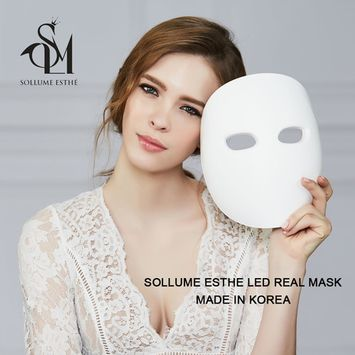 2017 New SOLLUME ESTHE Korea Skin Rejuvenation Anti-Aging LED Photon Light Therapy Facial Real Mask(Made in Korea)