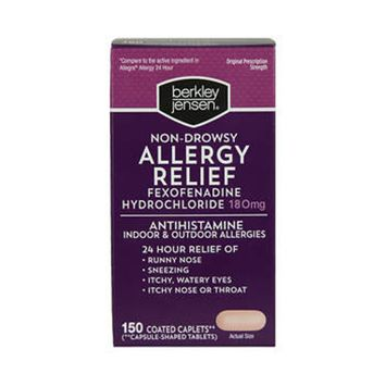 Berkley Jensen Non-Drowsy Allergy Relief Tablets, 150 ct.