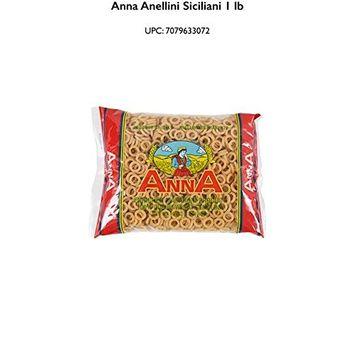 Anna - Italian Anellini Siciliani Pasta #72, (4)- 16 oz. Pkgs.