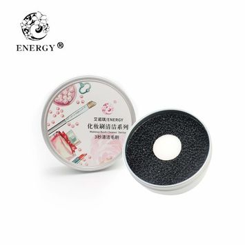 ENERGY Quick Color Cleaner Removal Sponge With Double Deck,Remove Shadow Color From Makeup Brushes Your Brush Without Water or Chemical Solutions - Compact Size for Travel