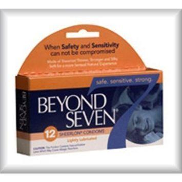 Beyond Seven Sheerlon Latex Male Condoms - Lightly Lubricated - 12 Pack