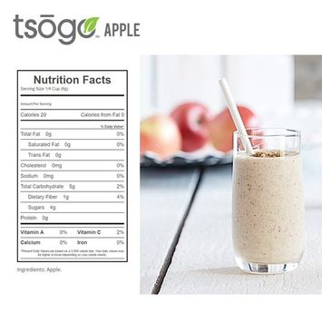 Tsogo Freeze-Dried Apple Dices, Large Can 258 grams, Fruit Smoothies, Healthy Snack, Food Storage, 20+ Year Shelf-Life