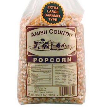 Amish Country Popcorn - Extra Large Caramel Type Popcorn - Old Fashioned, Non GMO, and Gluten Free- with Recipe Guide and 1 Year Extended Freshness Warranty