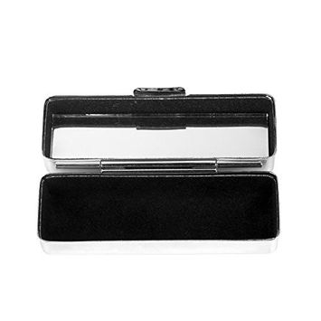 Kloud City Steel Lipstick Case with Mirror and Velvet Lined Lipstick Holder Makeup Case Jewelry Box