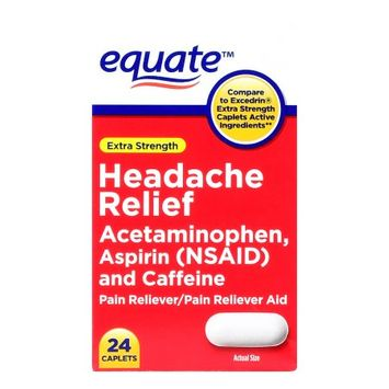 Wal-mart Stores, Inc. Equate Headache Relief Caplets, 24 Pack