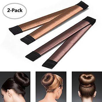 Hair Bun Maker Magic Bun Shaper Donut Hair Styling Making DIY Curler Roller Hairstyle Tools French Twist Doughnuts Hair Accessories for Women Girls - 2 Packs