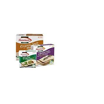 Manischewitz Passover Variety Pack, Matzoh Box - (1) Manischewitz Gluten Free Garlic Rosemary Crackers Matzo-Style Squares, 10 Oz. Box (1) Manischewitz Organic Matzah for Passover 10.Oz, Salt Free Cra