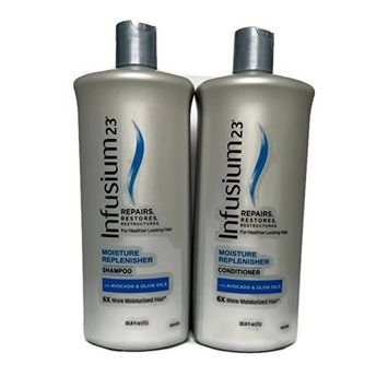 Infusium 23 Moisture Replenisher Shampoo and Conditioner Bundle 33.8fl oz Each