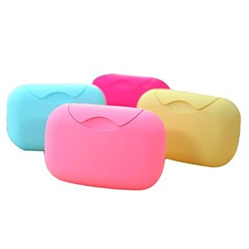 Home Bathroom Plastic Soap Case Holder New Bathroom Dish Plate Case Home Shower Travel Hiking Holder Container Soap Box by Faber3 (M)
