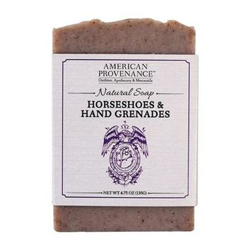 American Provenance 232441 4.75 oz Horseshoes & Hand Grenades Bar Soap