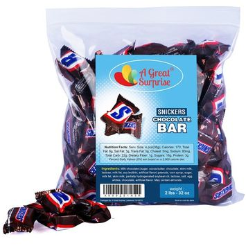 Snickers Mini Chocolate Bars, 2 LB Bulk Candy