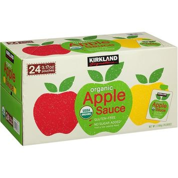 Kirkland Signature Organic Applesaucec (48 Pouches)