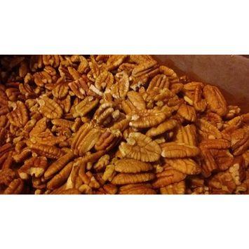 Organic Practice Raw Unpsrayed Fresh Shelled Texas Papershell Junior Mammoth Pecan Halves 1 lb