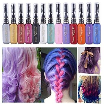 Binmer(TM) Women Professional Temporary Instant Hair Color Dye Highlights Streaks Touch