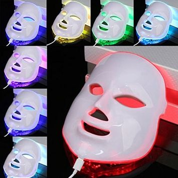 LED Photon Therapy 7 Color Light Treatment Electric Photon LED Mask Electric Facial Skin Rejuvenation Therapy Face Care