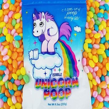 Unicorn Poop Candy (Pastel Jelly Beans) - Funny Birthday Gift - Unique Candy Present (1 Pack)