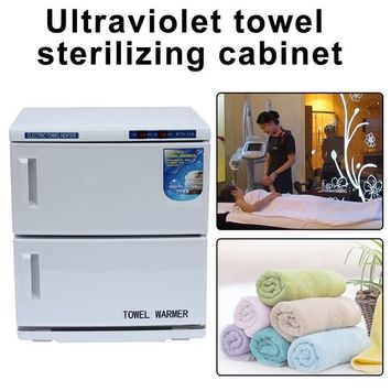 32L 2-in-1 Towel Warmer Ultraviolet UV Sterilizer Cabinet, Facial Skin Care SPA Beauty Salon Towel Sanitization Equipment