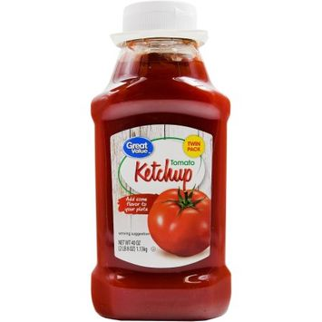 Great Value Ketchup Twin Pack, 2 ct, 40 oz