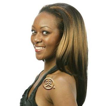 Motown Tress Half Wig Plus Drawstring LG-15 (2 in 1) Color: 4