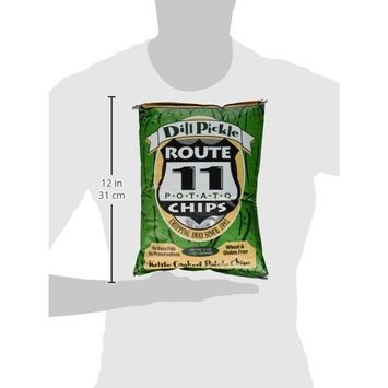 Route 11 Dill Pickle All Natural Potato Chips 6 oz (Pack of 3)
