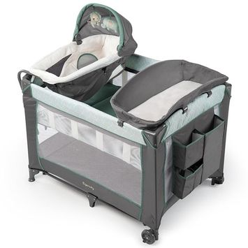 Ingenuity Smart and Simple Packable Portable Playard with Changing Table - Braden [Braden]