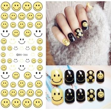 1 Sets Harajuku Elements Fantacy Flower Nail Art Stickers Water Transfer Nails Wrap Paint Tattoos Stamping Plates Templates Tools Tips Kits Exquisite Popular Stick Tool Vinyls Decals Kit, Type-19