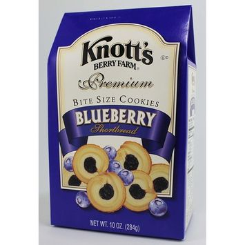 Blueberry Knott's Berry Farm Premium Bite Sized Shortbread Cookies Ten Ounce Gift Box [Blueberry]