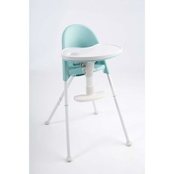 Primo Cozy TOT Deluxe Convertible Folding High Chair & Toddler Chair, Teal/White