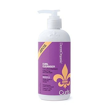 DermOrganic Curl Cleanser - Sulfate-Free & Color Safe, 12 fl.oz.