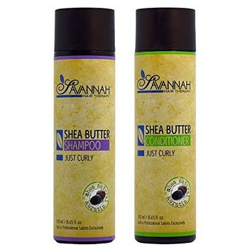 Savannah Hair Therapy Shea Butter Shampoo & Conditioner