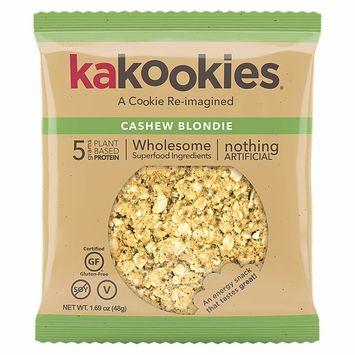 Kakookies Energy Cookies - Cashew Blondie (Box of 1 Dozen Cookies) - Vegan, Gluten Free, Soft Baked Superfood Snack Cookies