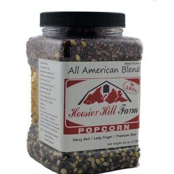 Hoosier Hill Farm All American Gourmet Popcorn Set, Red/White/Blue, 4.5 Pound