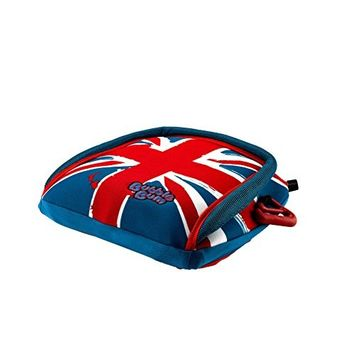 Bubble Bum Backless Inflatable Travel Booster Car Seat, Union Jack