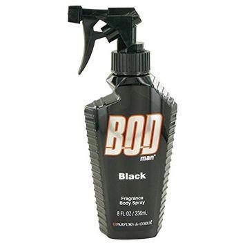 Bod Man Black by Parfums De Coeur Body Spray 8 oz