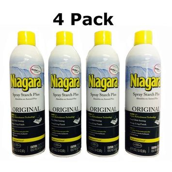 Niagara Spray Starch Crisp Finish, Sharp Look Without Excess Stiffness, 20 ounces (4 Pack)