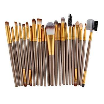 Makeup Brushes,lotus.flower 22Pcs Makeup Brush Set Premium Synthetic Foundation Brush Blending Face Powder Blush Concealers Eye Shadows Make Up Brushes Kit (G