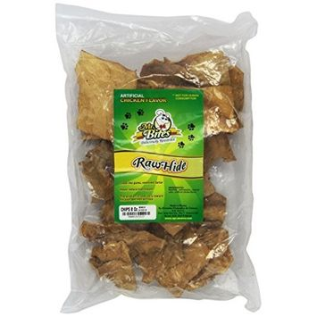 Mr Bites 8-Ounce Rawhide Chips for Dogs, Chicken Flavor