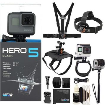 GoPro HERO5 Black 12 MP Waterproof 4K Camera Camcorder with Accessories